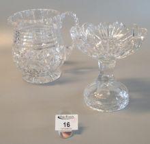 Lead crystal lemonade jug and matching comport. (2) (B.P. 21% + VAT)