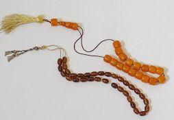 Amber worry-beads