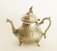 Moroccan silver plated tea pot