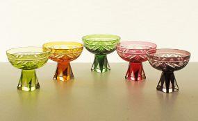 Murano crystal footed bowls