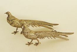 Silver plated pheasants.
