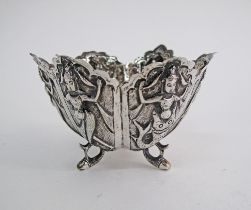 Indian silver six lobed bowl.