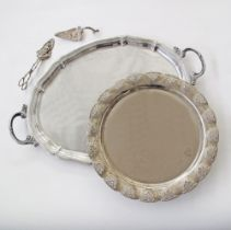 Silver plated tableware.