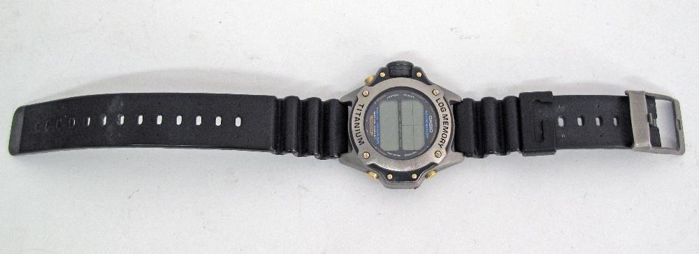 CASIO Illuminator Titanium divers watch. - Image 3 of 3