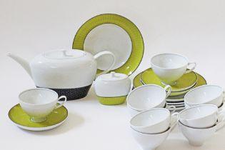 Modern porcelain tea service.