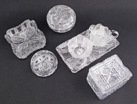 Bohemian crystal tableware.