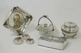 Silver plated table items.