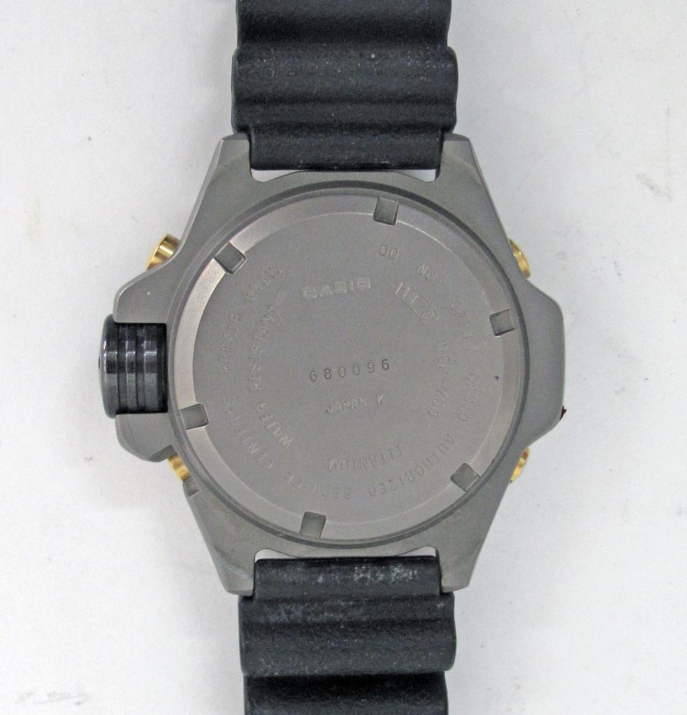 CASIO Illuminator Titanium divers watch. - Image 2 of 3