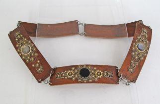 Wood & Metal belt.