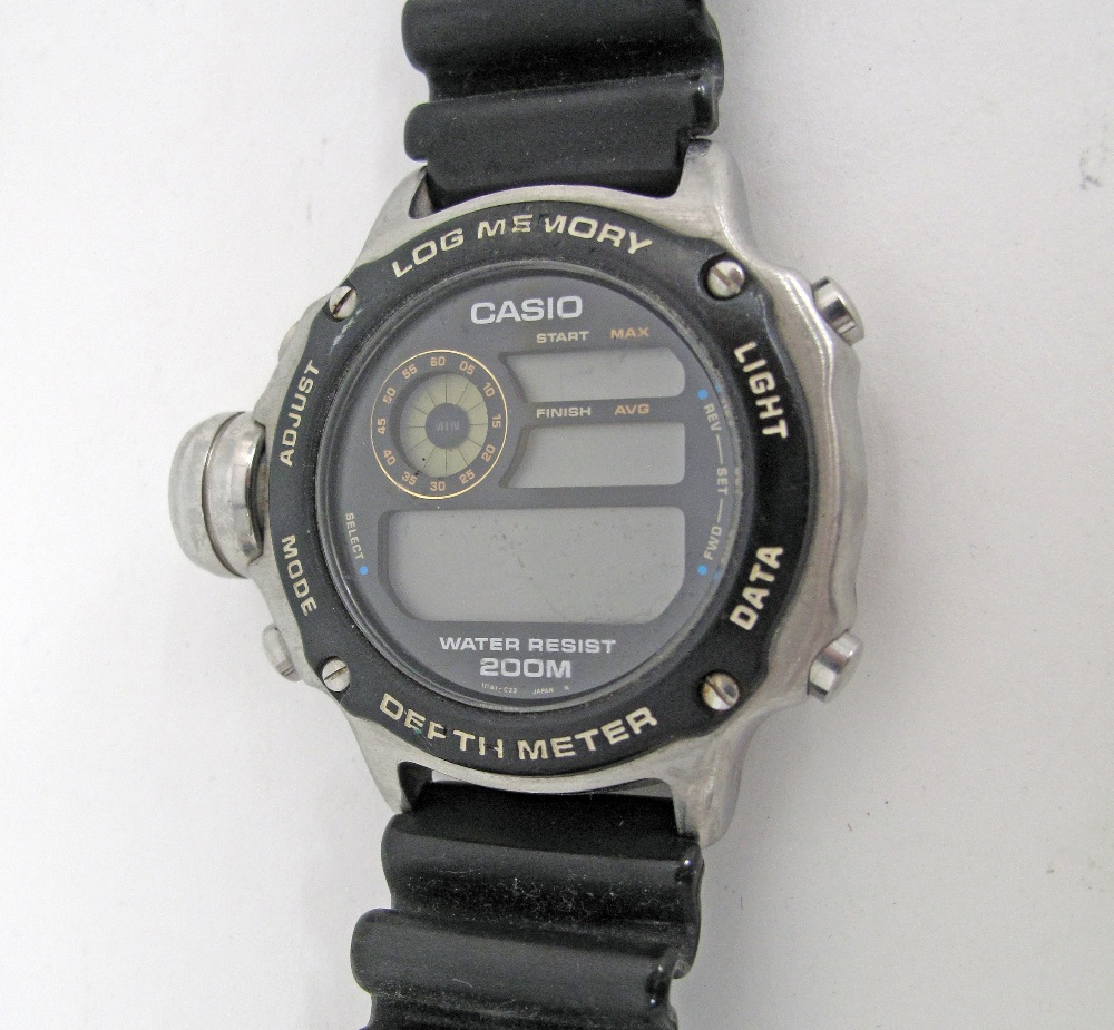 CASIO stainless steel divers watch.