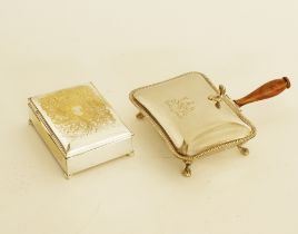 Silver plated table ware.