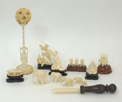 Chinese ivory carvings.