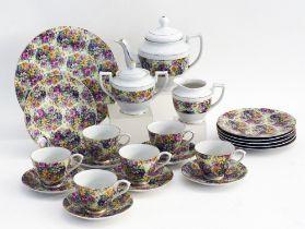 Porcelain tea set.