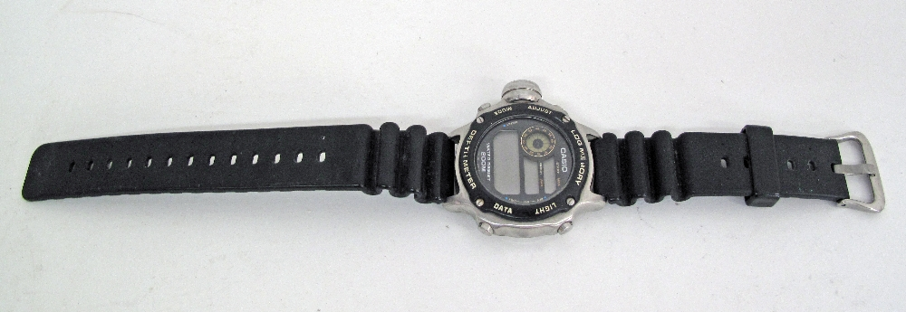 CASIO stainless steel divers watch. - Image 3 of 4