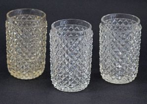 Antique hand cut crystal tumblers.