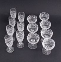 Waterford crystal glasses.
