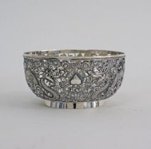 CHINESE SILVER BOWL .