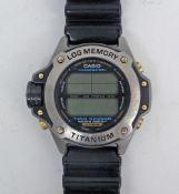 CASIO Illuminator Titanium divers watch.