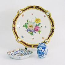 Decorative porcelain dishes.