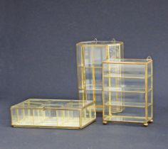 Glass jewelry boxes.