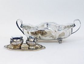 Silver plated center pieces.