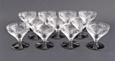 Vintage footed wine glasses.