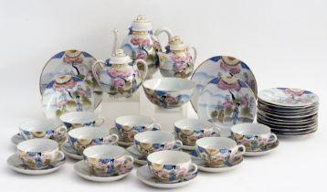 Japanese eggshell porcelain tea set.