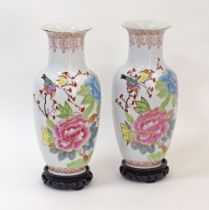 Chinese porcelain vases.