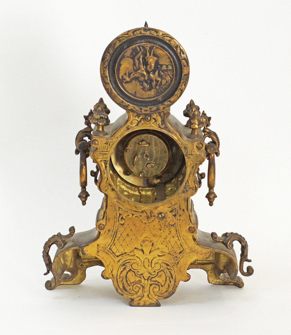 German mantle time piece. - Image 3 of 5