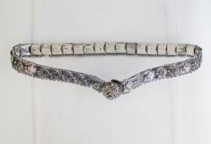 Niello and silver belt.