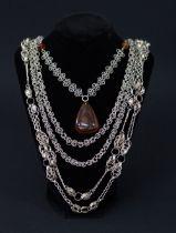 Vintage silver necklaces