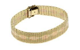 Armband 32.53 g 585/- Gelbgold Weissgold und Rotgold