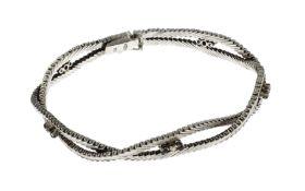 Armband 18.64 g 585/- Weissgold mit Diamanten und Saphire
