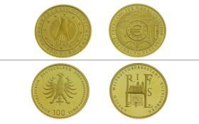2 Goldmuenzen 100€ UNESCO Weltkulturerbe 31.1g