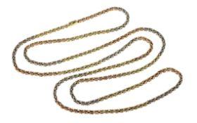 Koenigskette 97.75 g 585/- Gelbgold Weissgold und Rotgold