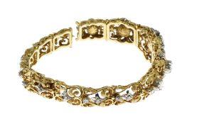 Armband 53.31 g 750/- Gelbgold mit Diamanten