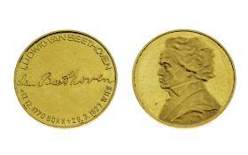 Medaille 986/- Gelbgold 3.44g