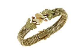 Armband 585/- Gelbgold mit Grandeln 36.45g