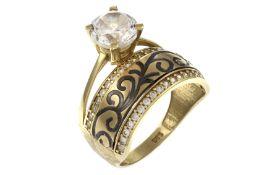 Ring 585/- Gelbgold mit Zirkonia 4.92g