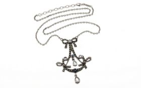 Collier 925/- Silber mit Steinen