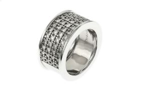 Christ Ring 585/- WG mit Diamanten