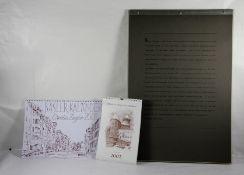 Konvolut Kunstkalender3 Kunstkalender, Rolf Benz-Kalender 1999 mit Graphiken von Afred Benz,