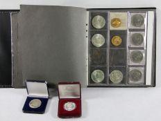 Konvolut Münzen u. Medaillenca. 240 Stk. versch. Münzen und Medaillen, z.B. 19 Stk. versch.