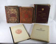 Konvolut Kunstbücher u. -mappen5tlg. Konvolut Kunstbücher u. Kuntmappen, um 1900 Buch Die K