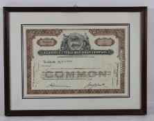Aktie Railroad Company1960, Aktie der Illinois Central Railroad Company, 5 shares, dat. Mar 2
