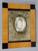 Marien-Medaillon19. Jhd., hochreliefiertes ovales Medaillon nach E.- G. Ragoneau, Büste der