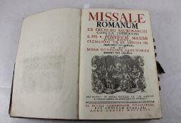 Missale Romanum1762, Missale Romanum ex Decreto Sacrosancti Concilii Tridentini Restitutum, S