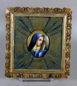 Porzellanplakette Maria