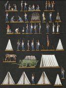 France - Garde impériale. Campement des grenadiers de la Vieille Garde. Pantalons bleus. 1812-1815.