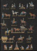 France -Etat-major. Halte de généraux, mameluck, aides de camp, cantinière avec charrette, ambulance